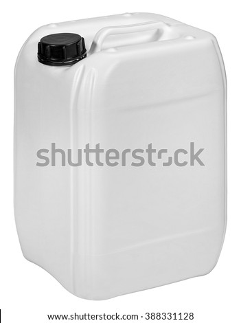 plastic container isolated on white background - stock photo
