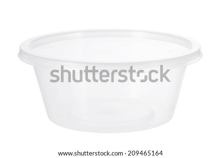 Plastic Container on White Background - stock photo