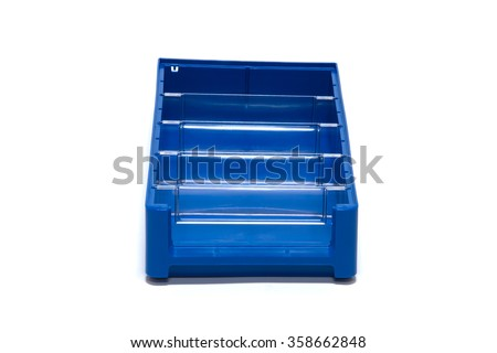 Plastic containers with baffles