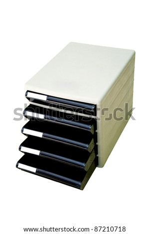 plastic drawer isolated - stock photo