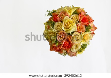 Plastic Floral on White Background.