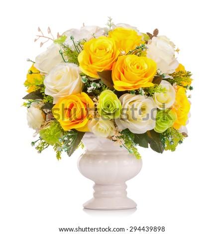 Plastic flower for decoration - stock photo