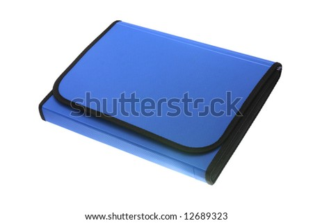 Plastic folder for documents on a white background
