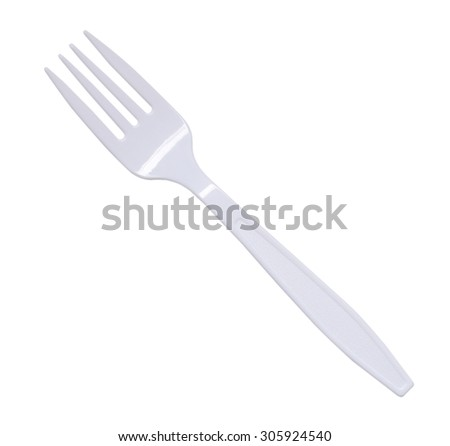plastic fork isolated on a white background