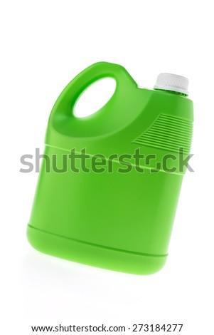 Plastic gallon container isolated on white background