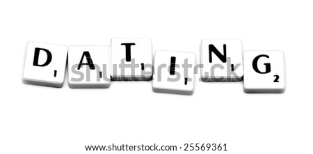 plastic game letters forming word dating stock photo royalty free
