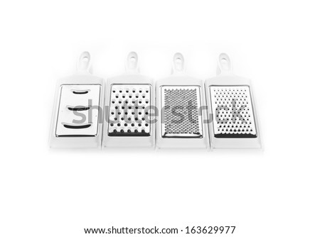 Plastic grater isolated on white