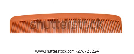 Plastic Hair Comb Isolated on White Background.
