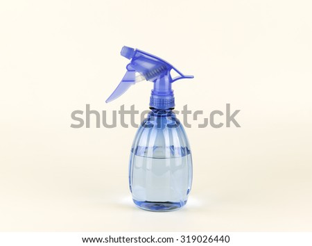 Plastic hand spray bottle, isolated on white - stock photo