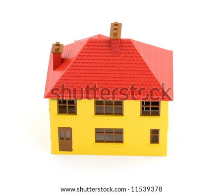 plastic house model studio isolated