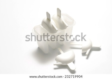 plastic ice cream making on a white background
