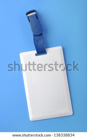Plastic ID card - stock photo