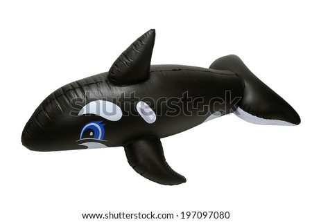 PLASTIC INFLATABLE WHALE - stock photo