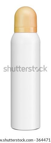 Plastic inverted bottle / studio photography of white plastic bottle with yellow cap - isolated on white background - stock photo