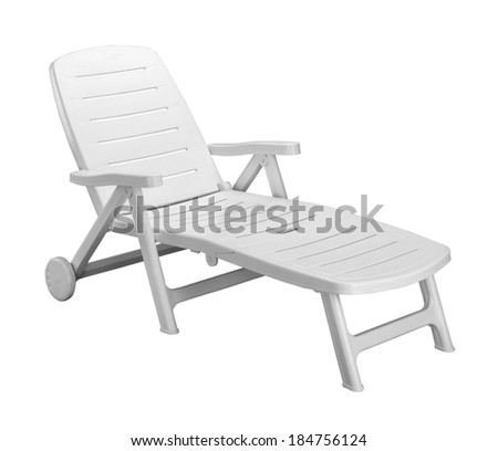 plastic loungers - stock photo