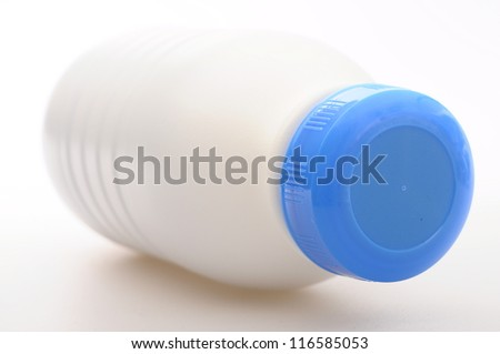 Plastic Milk white and blue cap bottle