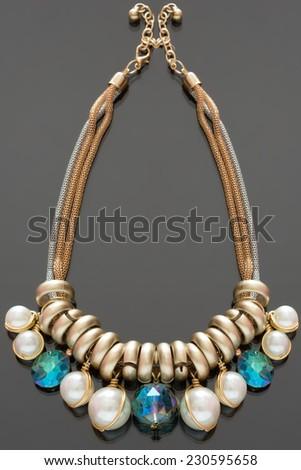 plastic necklace - stock photo