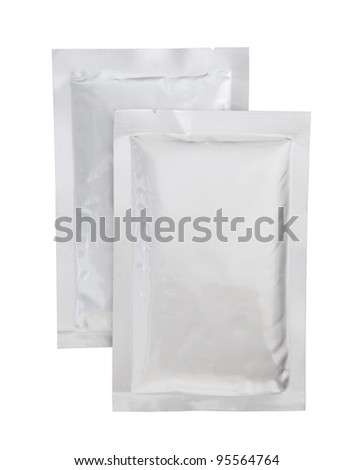 plastic package isolated on white background