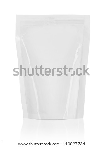 plastic packaging ready for your design. isolated over white background