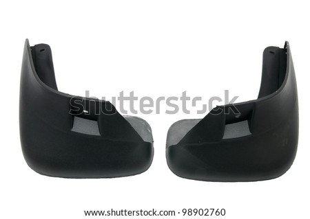 Plastic Parts for Cars on white background - stock photo
