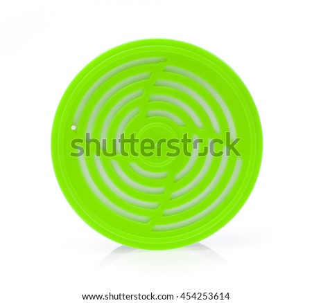 Plastic perfume rim block for car aircondition isolated on white background - stock photo