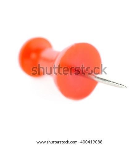 Plastic pin isolated over the white background - stock photo