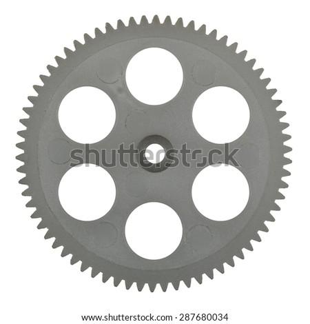 Plastic pinion, isolated on white background - stock photo