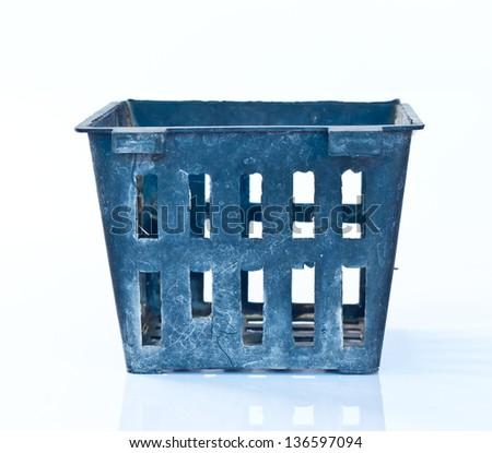Plastic planter - stock photo