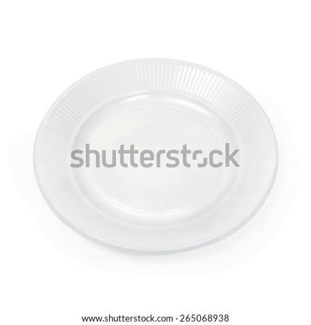 plastic plate - stock photo