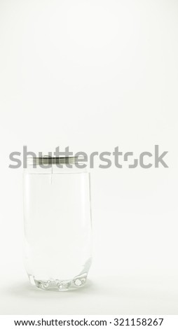 Plastic Recycle Can on white background