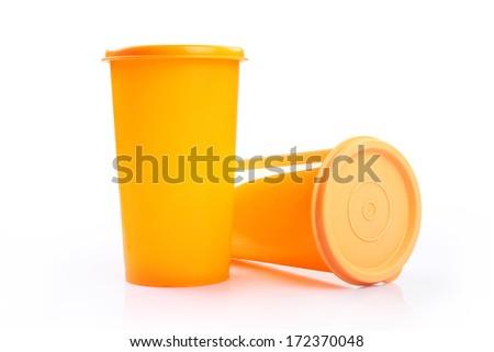 Plastic Shaker - stock photo