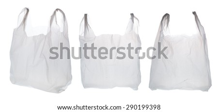 Plastic Shopping Bag on White Background