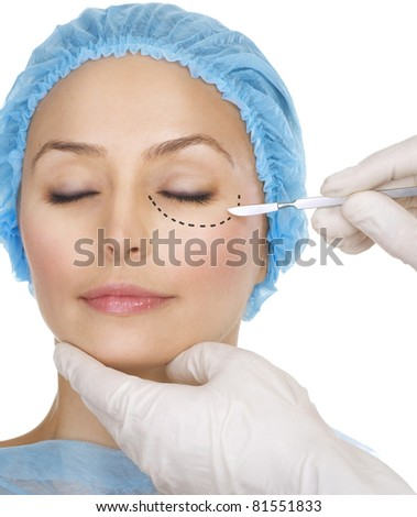 Plastic surgery concept. - stock photo