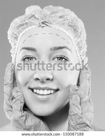 plastic surgery operation. - stock photo