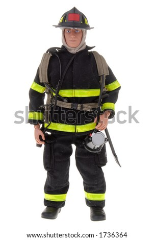 plastic toy doll of a fireman