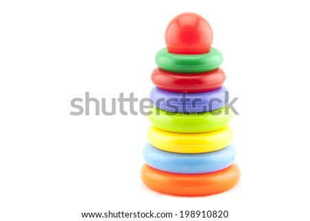 Plastic toy pyramid shape - stock photo