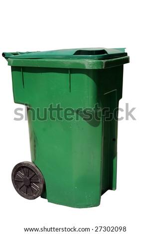 plastic trash can - stock photo