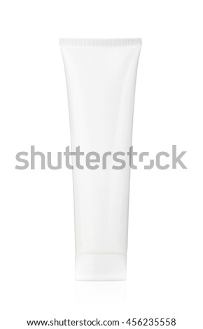 Plastic tube for cosmetics and body care. Isolated on a white background.