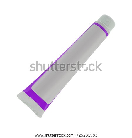 plastic tube for cosmetics isolated on white