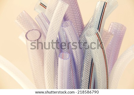plastic tube for gas industry - stock photo