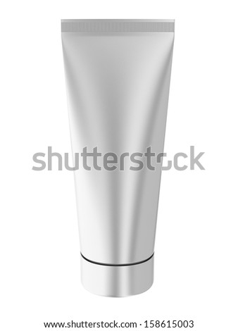 plastic tube isolated on white