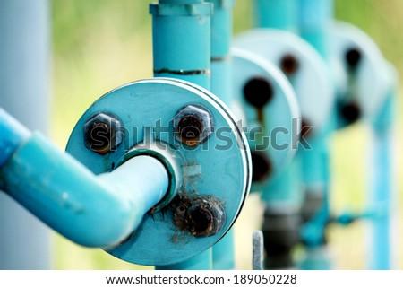 Plastic valves pumps - stock photo