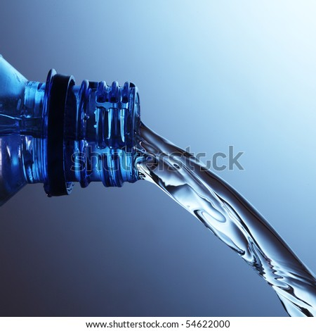 plastic water bottle - stock photo