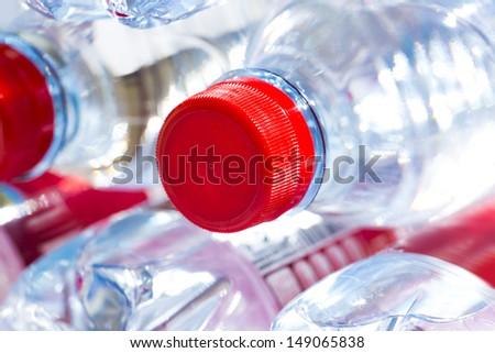 plastic water bottles - stock photo