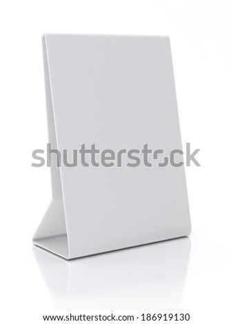 Plastic White ad Plate Isolated on White Background - stock photo