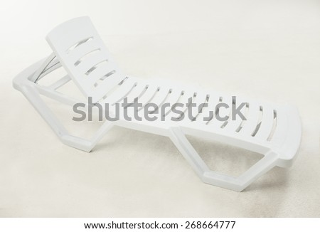 Plastic white sunbed with different angle