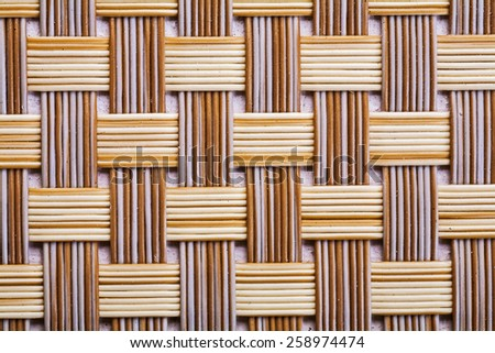 Plastic wicker woven texture background very close up - stock photo