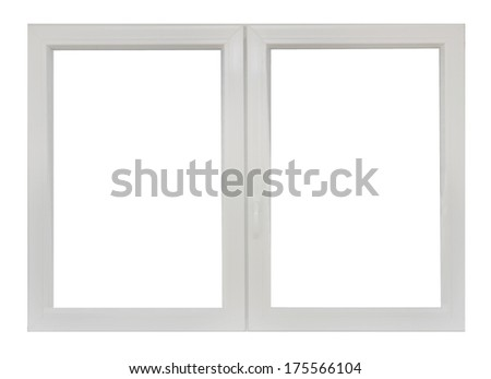 Plastic window - stock photo