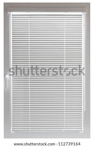 Plastic window isolated on white background - stock photo