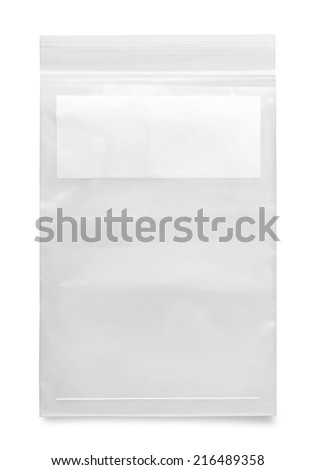 plastic zipper bag - stock photo